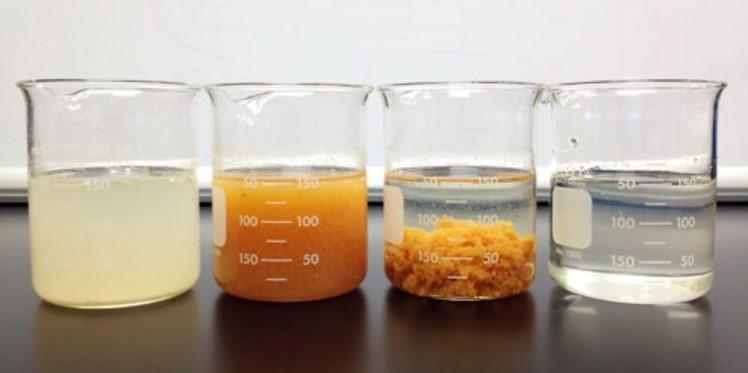 Jar test air gambut