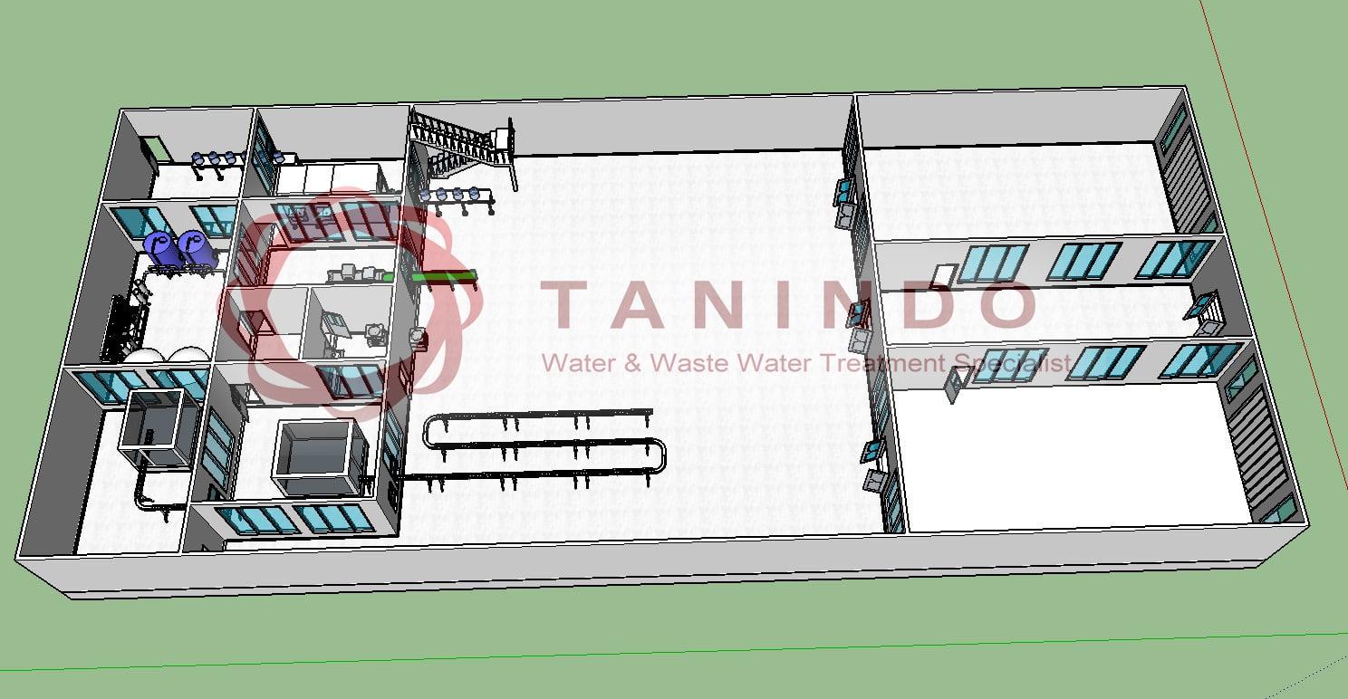 Desain tata ruang pabrik air minum amdk