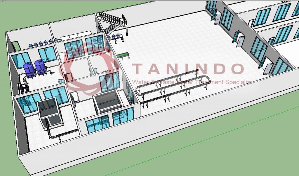 Desain ruangan pabrik air minum amdk