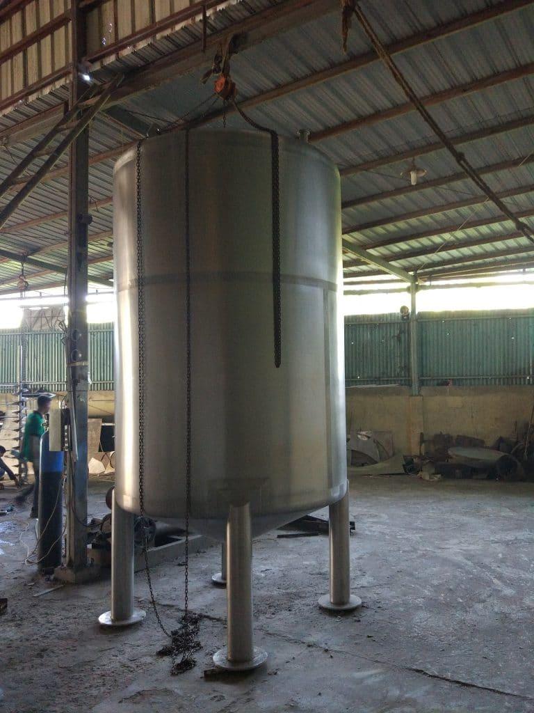 Tangki stainless steel pabrik air